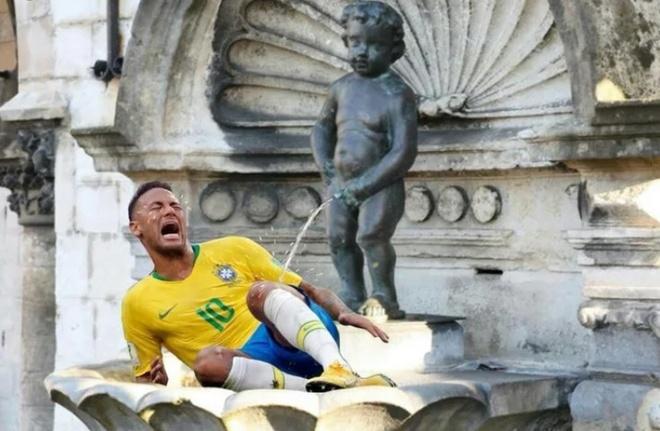 Bi loai, Brazil va Neymar thanh de tai che anh tren mang xa hoi hinh anh 3