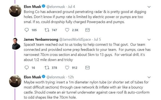 Elon Musk hien ke cuu ho doi bong Thai anh 1