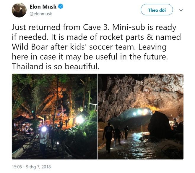 Elon Musk dang anh giai cuu o Thai Lan va tau ngam 'lon hoang' hinh anh 1