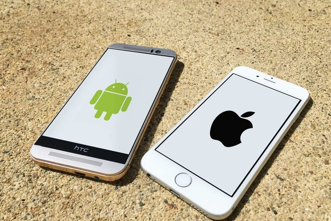 So sanh iPhone va smartphone Android anh 1