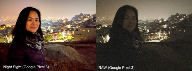Tấm ảnh bên phải là thứ camera bắt được, còn bên trái là điều Google muốn người dùng thấy. Ảnh: The Washington Post.