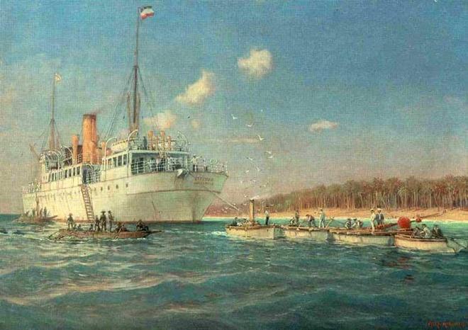 Trung tâm cáp ngầm của Đức trong Thế chiến I được đặt ở đâu