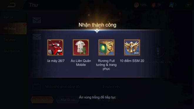 Loi Lien Quan gui trang phuc,  tuong,  xe cho nguoi choi anh 2