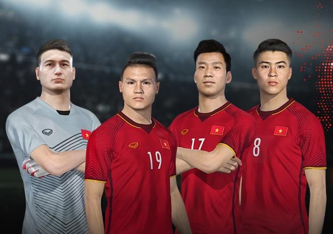 Tuyen Viet Nam va cau lac bo Viettel xuat hien trong PES 2022 anh 1