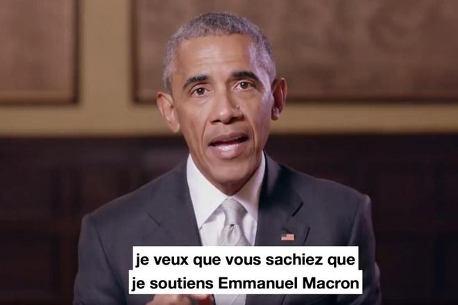 Tong thong Macron an trua 'rieng tu' voi Obama o Paris hinh anh 1