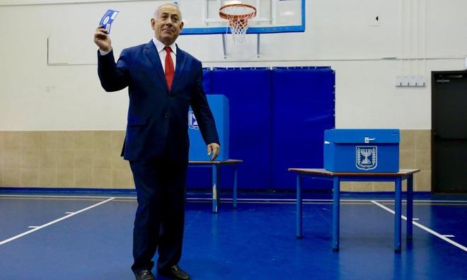 Bau cu Israel: Thu tuong Netanyahu va doi thu deu tuyen bo thang cuoc hinh anh 1