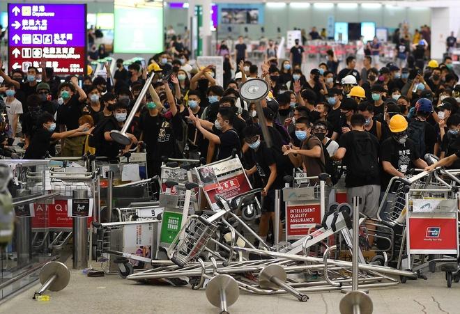 bieu tinh o Hong Kong anh 1