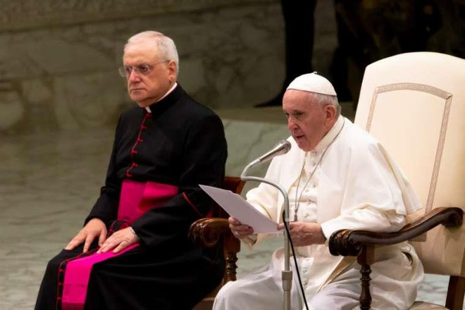 Thu truong Bo Ngoai giao VN tham va lam viec tai Toa thanh Vatican hinh anh 1