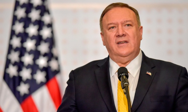 Cac lanh dao vung Caribbean tay chay cuoc hop voi ngoai truong My hinh anh 1 pompeo.jpg