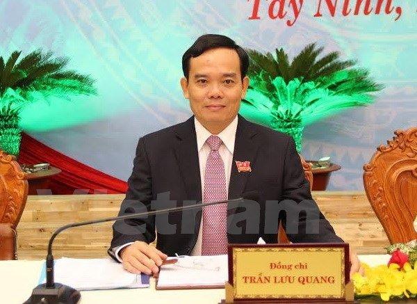 Dien Bien, Gia Lai co tan bi thu hinh anh 2 Ông Trần Lưu Quang tái đắc cử Bí thư Tỉnh ủy Tây Ninh khóa X, nhiệm kỳ 2015-2020. Ảnh: TTXVN