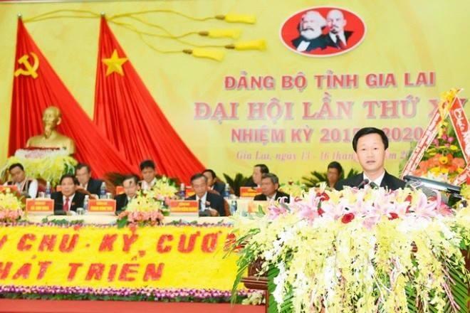 Dien Bien, Gia Lai co tan bi thu hinh anh 1 Ông Dương Văn Trang phát biểu tại hội nghị. Ảnh: Báo Gia Lai.