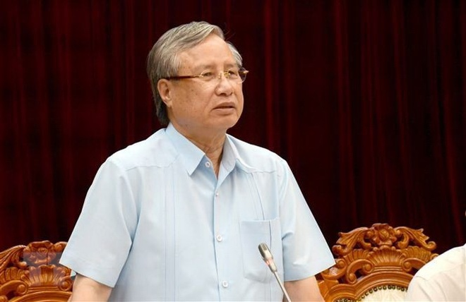 Thuong truc Ban Bi thu Tran Quoc Vuong lam viec voi Thanh uy Da Nang hinh anh 2 ttxvn_tran_quoc_vuong_1.jpg
