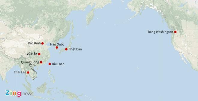 Bo Y te lo ngai virus la tu Vu Han lan sang Viet Nam dip Tet hinh anh 1 Map_Virus_corona_zing.jpg