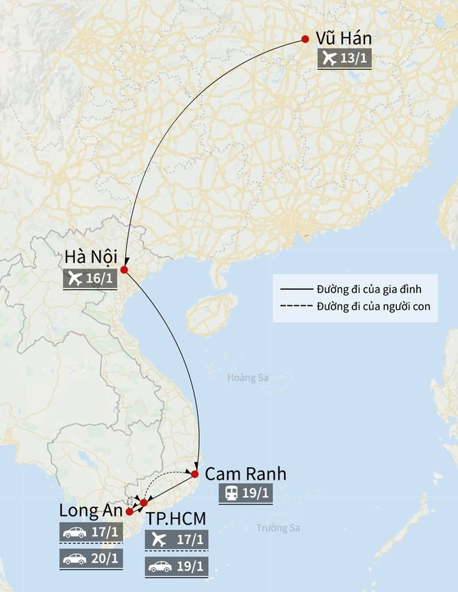 Hanh khach tu Trung Quoc vao Viet Nam phai khai bao y te hinh anh 1 Map_corona_o_VN_3_.jpg