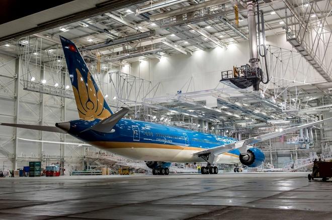 May bay Boeing 787 dau tien cua Vietnam Airlines sap ve VN hinh anh 1