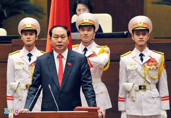 Khoanh khac Chu tich nuoc Tran Dai Quang nham chuc hinh anh 6