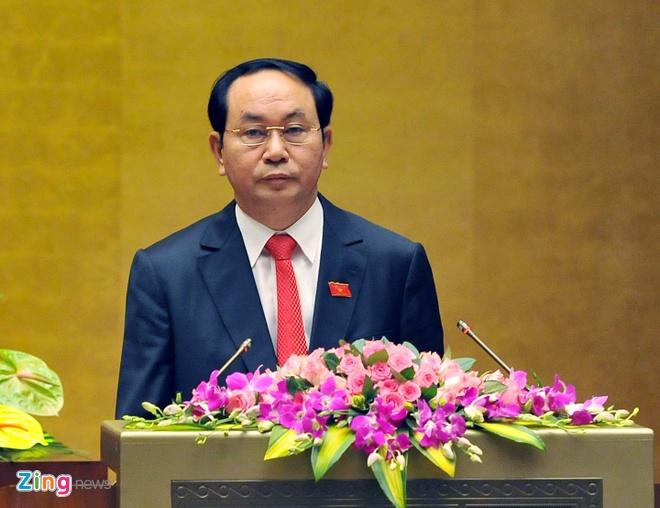 Khoanh khac Chu tich nuoc Tran Dai Quang nham chuc hinh anh 8