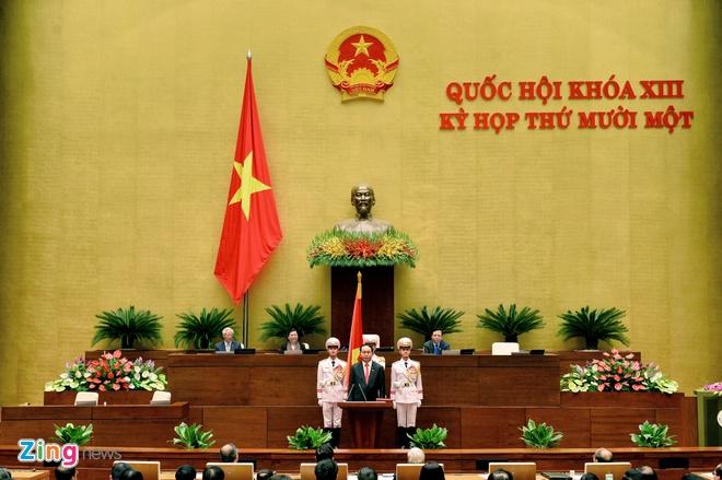 Khoanh khac Chu tich nuoc Tran Dai Quang nham chuc hinh anh 4