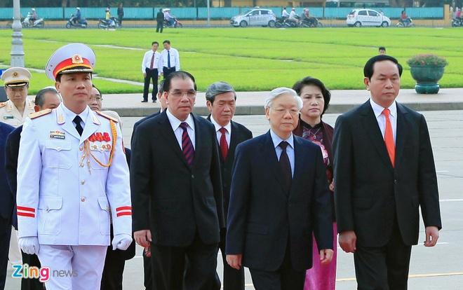 Lanh dao Dang, Nha nuoc vieng lang Chu tich Ho Chi Minh hinh anh 4
