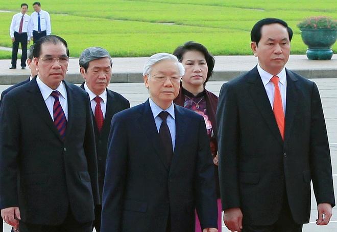 Lanh dao Dang, Nha nuoc vieng lang Chu tich Ho Chi Minh hinh anh