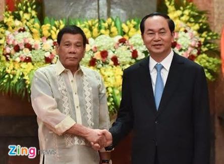 Chu tich nuoc Tran Dai Quang tiep Tong thong Philippines hinh anh