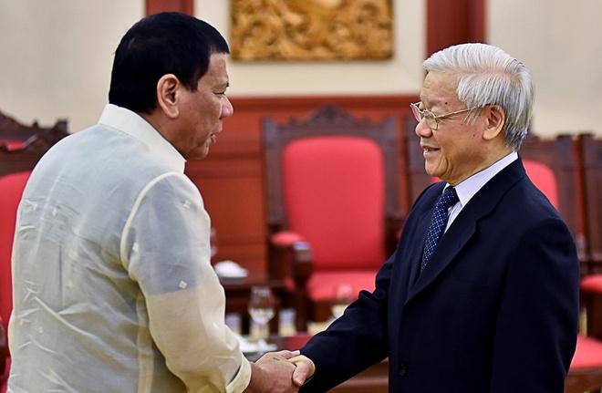 Tong bi thu, Thu tuong gap Tong thong Philippines Duterte hinh anh