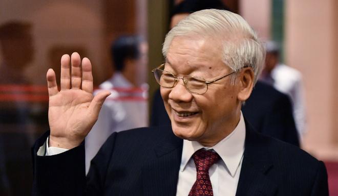 Tong bi thu Nguyen Phu Trong trong ngay dac cu Chu tich nuoc hinh anh