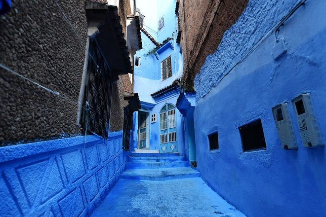 Thanh pho mau xanh, bao vat cua Morocco hinh anh