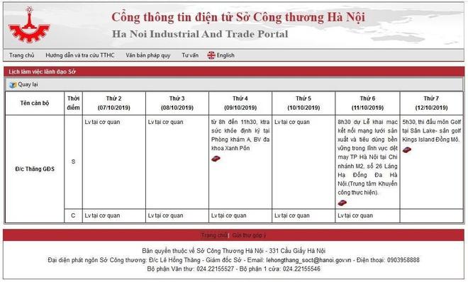 Giam doc So Cong Thuong noi ve viec danh golf co trong lich cong tac hinh anh 1