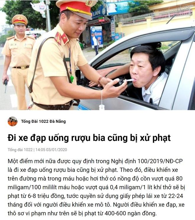 Dung Zalo van dong khong uong ruou bia khi lai xe dip Tet hinh anh 3