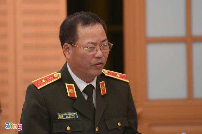 Ông Đoàn Ngọc Hùng, Phó giám đốc Công an Hà Nội. Ảnh: Sơn Hà.