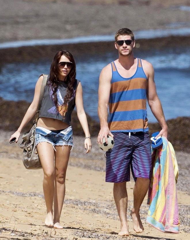 thoi trang cua Miley Cyrus va Liam Hemsworth anh 2