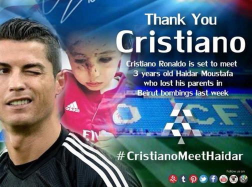 Nan nhan vu danh bom duoc gap Ronaldo nho mang xa hoi hinh anh