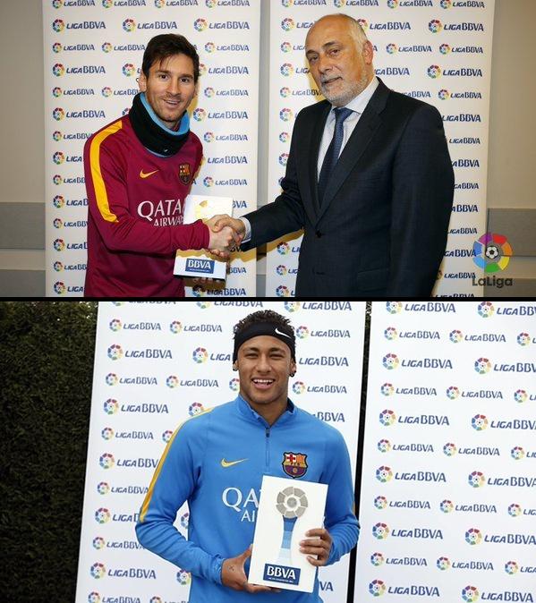 Messi lan dau gianh giai hay nhat thang o La Liga hinh anh 1