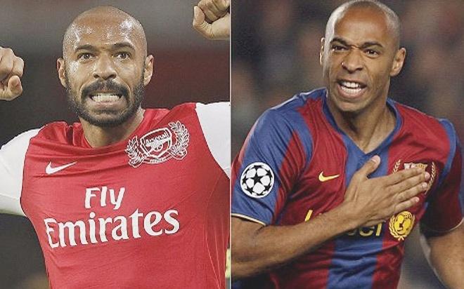 Cac ngoi sao tung khoac ao ca Barcelona va Arsenal hinh anh
