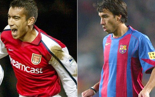 Cac ngoi sao tung khoac ao ca Barcelona va Arsenal hinh anh 5
