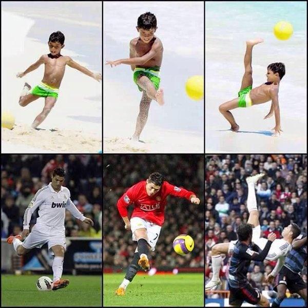 Ronaldo muon con trai noi nghiep bong da hinh anh 1