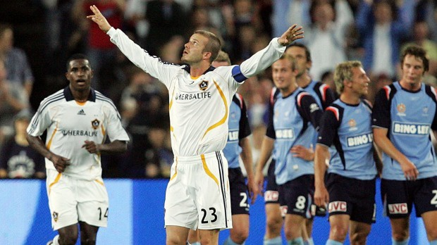 David Beckham tro lai thi dau trong mau ao huyen thoai MU hinh anh 1
