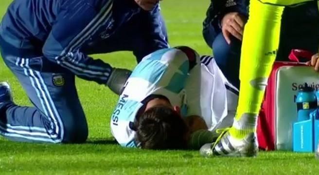 Messi dau don roi san vi chan thuong lung kieu Neymar hinh anh 1