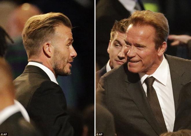 David Beckham va Arnold Schwarzenegger dua tien Muhammad Ali hinh anh