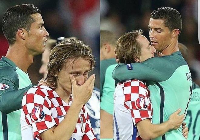 Modric nuc no trong vong tay an ui cua Ronaldo hinh anh