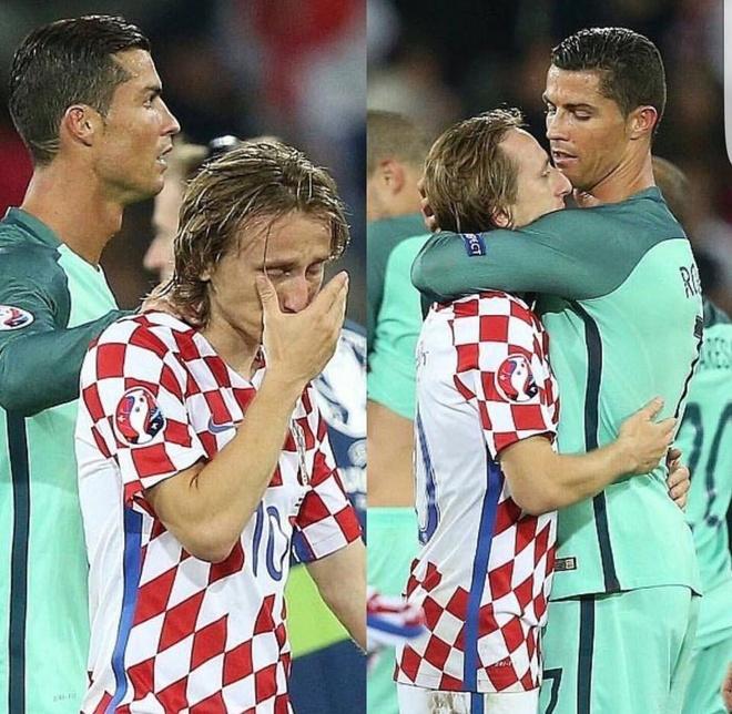 Modric nuc no trong vong tay an ui cua Ronaldo hinh anh 6