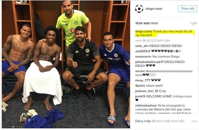 Dau hieu chung to Diego Costa sap roi xa Chelsea hinh anh 1