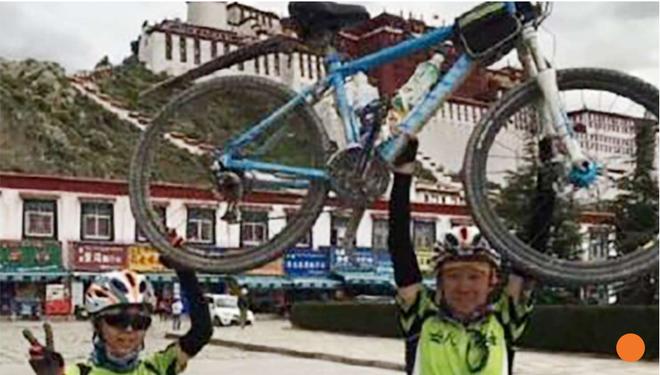 Co be Trung Quoc dap xe 2.166 km len vung cao nhat the gioi hinh anh