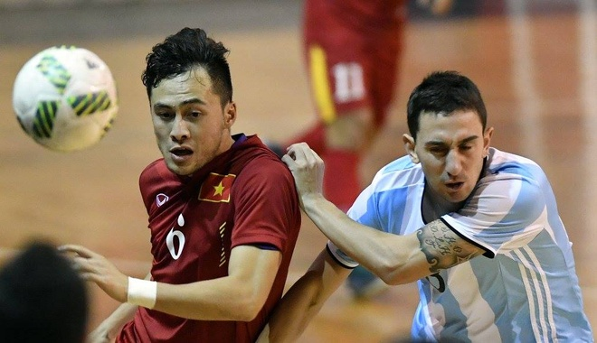 Bao the thao hang dau Argentina ca ngoi DT futsal Viet Nam hinh anh
