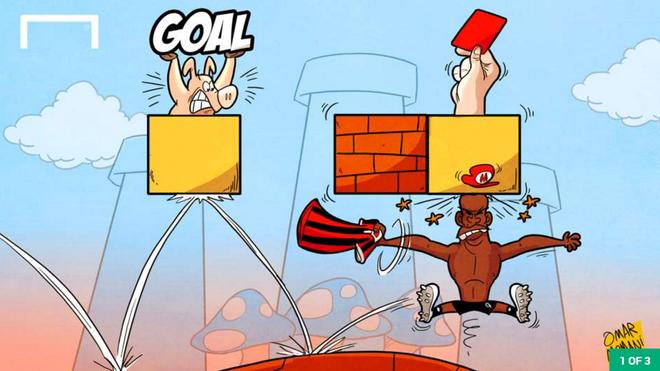Hi hoa Balotelli huc gach ra the do khi choi game Mario hinh anh