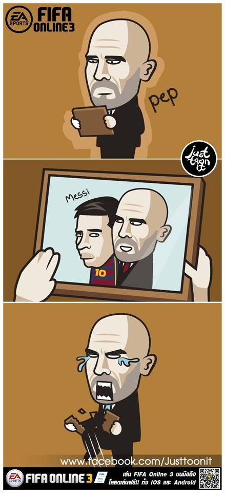 Pep khoc thet, da gay doi khung anh chup Messi hinh anh 1