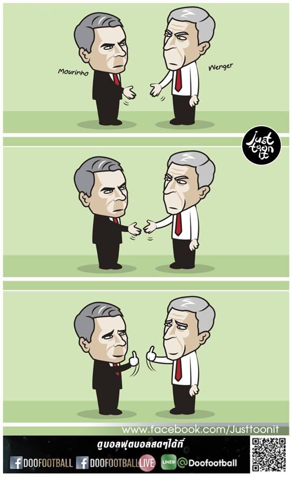 Biem hoa Mourinho va Wenger tu hai lan nhau hinh anh 2