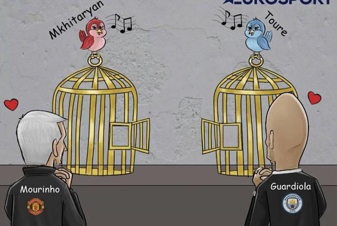 Biem hoa Toure va Mkhitaryan nhu 2 chu chim so long hinh anh
