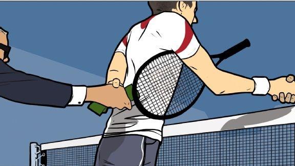 Sau tay vot tennis bi bat khan cap hinh anh 1